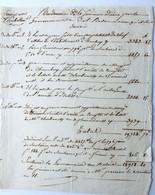 General Dedon-Duclos, Aine. Memoire De L'armée De Naples,1803. - Autographs