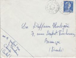 LETTRE DE CHAMPS SUR TARENTAINE CANTAL 1957 - 1921-1960: Moderne