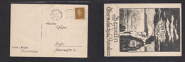 Airmails - World. 1929 (16 March) Konstanz - Luhr Zeppelin Fkd Stat Card. Abitur 1929. - Unclassified