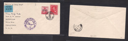 Airmails - World. 1937 (28 Apr) Philippines - MACAO - HONG KONG First Flight To USA. Special Cachets. Fine. - Unclassified