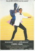 """E 373 - ALBERT R. BROCCOLI """" A VIEW TO A KILL """" ROGER MOORE / GRACE JONES  ( JAMES BOND 007 ) - Posters On Cards"""