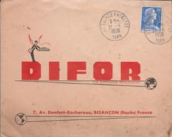 LETTRE DE SAINT SULPICE ENTREPOT TARN 1958 - 1921-1960: Moderne