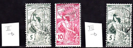 CH025A – SUISSE – SWITZERLAND – 1900 – UPU ALLEGORY – MI # 71II/III-72II USED 9 € - Usati
