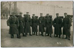 Foto AK 1.WK Sachsen Infanterie-Regiment 106 Leipzig Kaserne Feldmarschmäßig Gasmaskenbehälter #220 - Guerra 1914-18