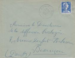 LETTRE DE AIGNAY LE DUC COTE D'OR 1958 - 1921-1960: Moderne