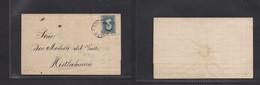 MEXICO. 1874. DF - Histlahuaca. E Fkd 25c Blue, Distr Name 1-174, Tied Cds. - Mexiko