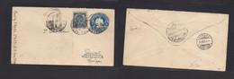 MEXICO - Stationery. 1901 (13 Marzo) TPO Sierra Mojada - Switzerland, Zurich (5 April) 5c Blue Stat Env + Adtl. Better O - Mexiko