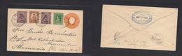 MEXICO - Stationery. 1913 (15 Ene) Presbistero - Germany, Kaldeskirchen Via NY. 5c Orange Embossed Stat Env + 4 Adtls, C - Mexiko