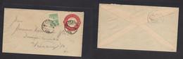 MEXICO - Stationery. 1927 (22 Julio) Perote - Veracruz. 4c Red Stat Env + 4c Adtl, Cds. - Mexiko