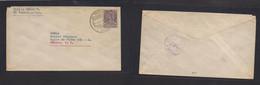 MEXICO - Stationery. 1936 (11 July) El Regocijo, Dgo - DF. 10c Lilac Stat Env. VF Used. - Mexiko