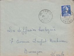 LETTRE DE SAINTE CROIX DROME 1958 - 1921-1960: Moderne