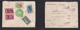 PERSIA. 1929. Teheran - France, Paris. Registered Reverse Multifkd Airmail Usage. - Iran