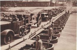 CPA - édit. GEORGES LANG - PONT  DE  BATEAUX - Manœuvres Du Galibier - Août 1938 - Equipment