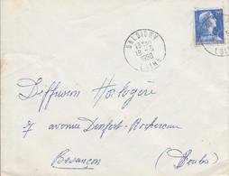 LETTRE DE BALBIGNY LOIRE 1958 - 1921-1960: Moderne