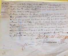 Diane De LaVergne ,Dame De Moussy Et De Betz.1624,Rare. - Autographs