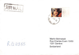 BARBUDA - REGISTERED AIR MAIL 1993 > GENÉVE/CH / PR75 - Antigua Y Barbuda (1981-...)