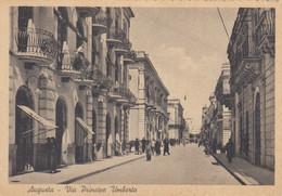 Sicilia - Siracusa  - Augusta - Via Principe Umberto - F. Grande - Nuova  - Molto Bella Animata - Antiguerra - Other Cities