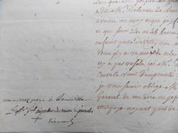 Bonnamy De Bellefontaine Et Marquis D'Estourel.1792. Rare! - Autographs