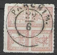 Germany Mecklenburg Strelitz 1865 Beautiful Parchim Cancel 75 Euros - Mecklenburg-Strelitz