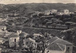 Sicilia - Messina - Capo D'Orlando - Frazione S. Gregorio - F. Grande - Viagg - Molto Bella Animata Con Treno - Other Cities