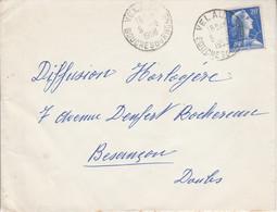 LETTRE DE VELAUX BOUCHES DU RHONE 1958 - 1921-1960: Moderne