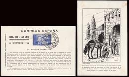 """España - Edi O TP 983 - Tarjeta Especial """"Día Del Sello - 1944"""" Con Matasello Primer Día - FDC"""