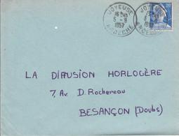 LETTRE DE JOYEUSE ARDECHE 1957 - 1921-1960: Moderne