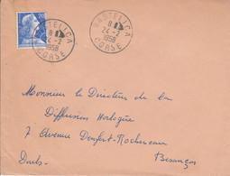 LETTRE DE BASTELICA CORSE 1958 - 1921-1960: Moderne