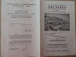 Publicité Sur Les Procédés Sté Routière Colas 39, Rue Du Colisée Paris. Le Circuit De Monaco, De Monthléry (91). - Publicités