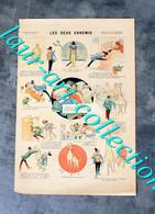 RARE ESTAMPE IMAGERIE PARISIENNE - SERIE E - N°4 : LES DEUX ENNEMIS - 40x27cm        (3108) - Stampe & Incisioni