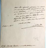 Hugues-Bernard Maret, Duc De Bassano, A General Berthier ,1802. - Autographs