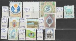 ARABIA-SAUDITA   1998  **   MNH   YVERT    1031+1033\39+1039A-  SERIES-9- COMPRETAS - Saudi Arabia