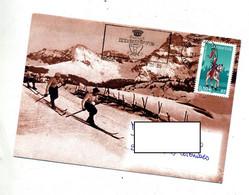 Lettre  Flamme Megeve  Illustre Ski - Mechanical Postmarks (Advertisement)