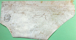 De Anquetin, Parchemin. D'Hozier. Paris.1627 . - Autographs