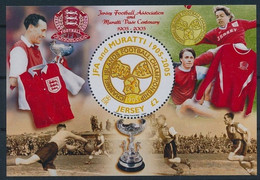 Jersey 2005 MNH MS, Odd Round Stamp, Football Sports Soccer - Autres