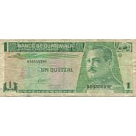 Billet, Guatemala, 1 Quetzal, 1993, 1993-10-27, KM:87a, TB+ - Guatemala