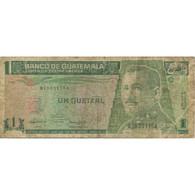 Billet, Guatemala, 1 Quetzal, 1992, 1992-07-16, KM:80, TB - Guatemala