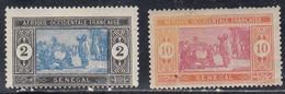 Senegal, Scott #80, 84, Mint Hinged, Preparing Food, Issued 1914 - Neufs