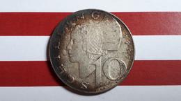AUTRICHE 10 SHILLING 1957 ARGENT - Austria