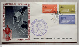 Indonesia 1961 FDC Thomas Cup - Indonesia