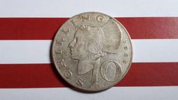 AUTRICHE 10 SHILLING 1958 ARGENT - Austria