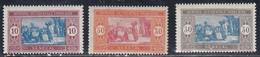 Senegal, Scott #86, 94-95, Mint Hinged, Preparing Food, Issued 1914 - Neufs