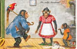 Kinderen Als Vader Thuiskomt Gelopen 7-7-1930 - Humorous Cards