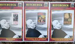 3 VHS HITCHCOCK MEURTRE, L'HOMME QUI EN SAVAIT TROP ET AUBERGE DE LA JAMAIQUE TB ETAT - Classici
