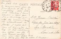 Cachet Convoyeur Ambulant 1933 Argent à Salbris Brinon Sur Sauldre Cher Le Lavoir - Spoorwegpost