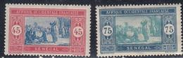 Senegal, Scott #100, 109, Mint Hinged, Preparing Food, Issued 1914 - Neufs