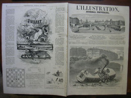 L'ILLUSTRATION 1118 ACCIDENTS LYON CANADA/ CANNES/ TURQUIE / BUCHAREST - 1850 - 1899