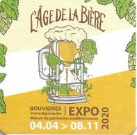 Sous-bock. L'Age De La Bière. Pub Sous Forme De Sous-bock. Bouvignes. Dinant. 2020 - Beer Mats