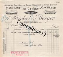 93 1579 MONTREUIL SEINE 1922 Cires A Cacheter MICHEL - BERGER Manufacture LUTETIA Cire Succ F. URSOT  Rue Marceau - 1900 – 1949