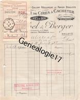93 1580 MONTREUIL SEINE 1922 Cires A Cacheter MICHEL - BERGER Manufacture LUTETIA Cire Succ F. URSOT  Rue Marceau - 1900 – 1949